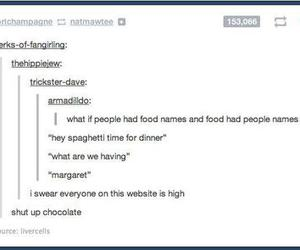 food, funny, and names image