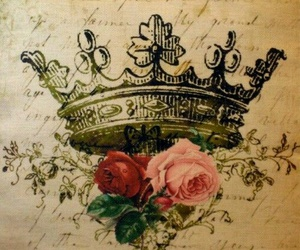 roses, crown, and flowers image