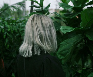 green, girl, and plants image