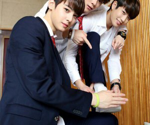 astro, mj, and moonbin image