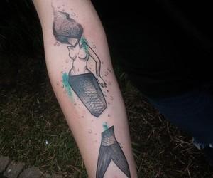 tattoo, cool, and mermaid image