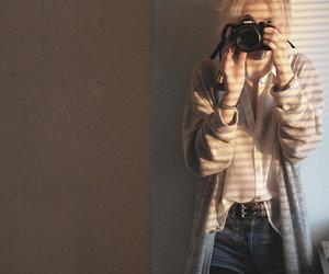 camera, girl, and hair image