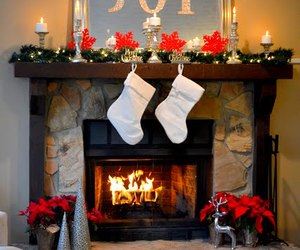 fireplace, christmas, and cozy image