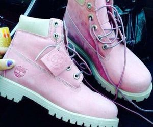 timberland, pink, and shoes image