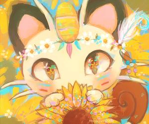 pokemon, cute, and meowth image