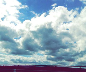 clouds, roadtrip, and sky image