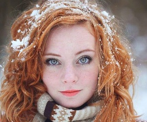 girl, ginger, and snow image