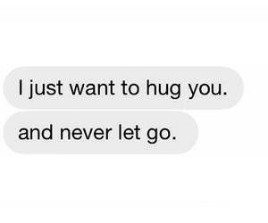love, hug, and text image