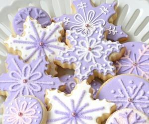 Cookies, purple, and christmas image