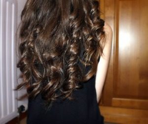 brown hair, clothes, and curly hair image