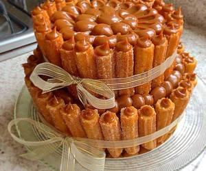 churros, food, and cake image