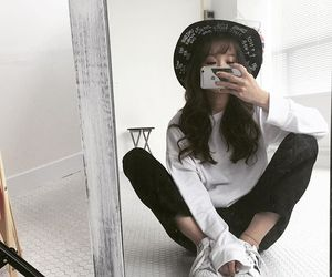 korean, girl, and style image