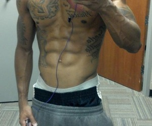 inspiration, gym gloves, and fit guys image