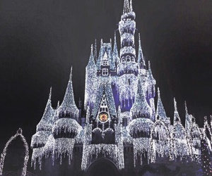 beautiful, castle, and christmas image