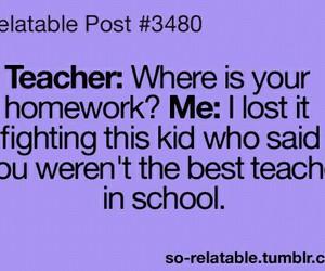 teacher, school, and funny image