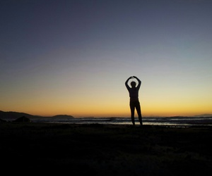 beach, heart, and new zealand image