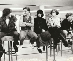 The Breakfast Club, movie, and black and white image