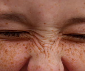 freckles, eyes, and face image