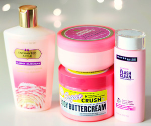 Victoria's Secret, lotion, and pink image