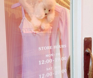 store, dog, and pink image