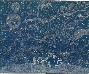art, stars, and blue image