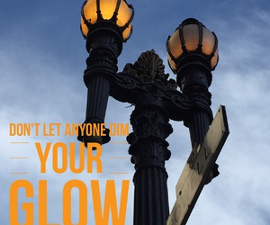 street lamp, light, and quote image