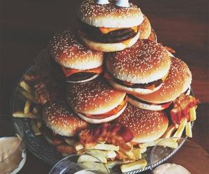 food, burger, and birthday image