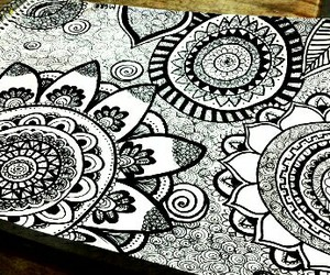 art, blanco y negro, and mandala image