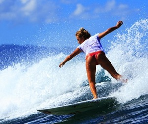 surf, surfing, and surfboard image