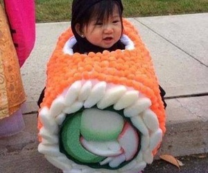 Halloween, scary, and sushi image