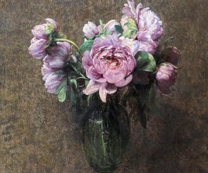 art, floral, and painting image