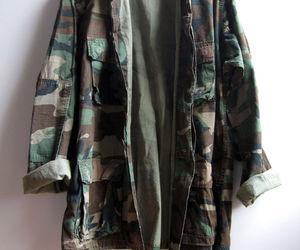 camouflage, grunge, and camo jacket image