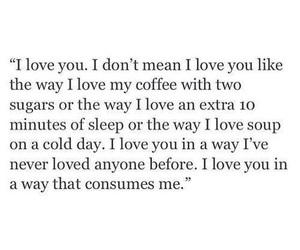 love, quotes, and coffee image