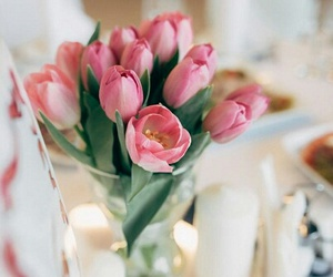 flowers, tulips, and decor image