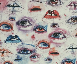 eyes, art, and lips image