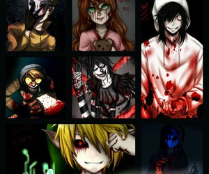 sally, jeff the killer, and ben drowned image