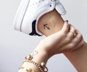 anchor, tattoo, and heart image