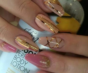 nails, girls, and glitter image
