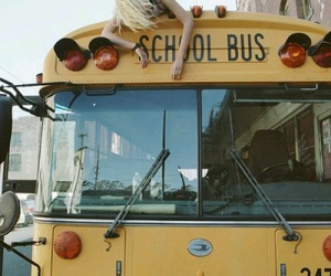 bus, school, and school bus image