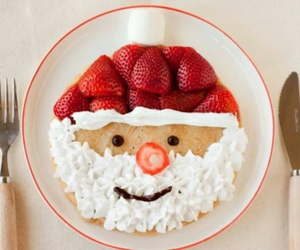 christmas, food, and strawberry image