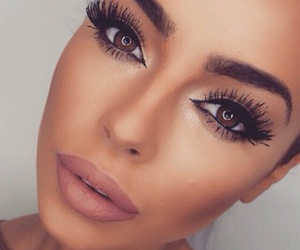 eyes, flawless, and lipstick image