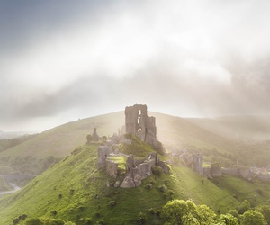 castle, medieval, and england image