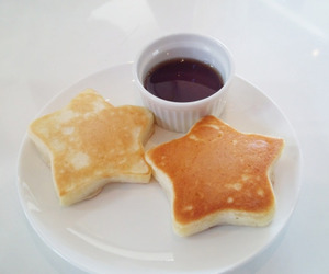 food, stars, and pancakes image