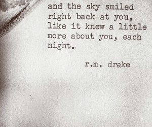quote, Drake, and sky image