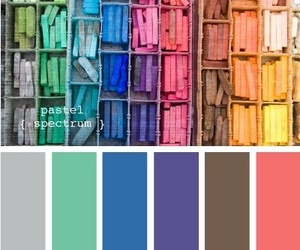 books, colors, and color palette image