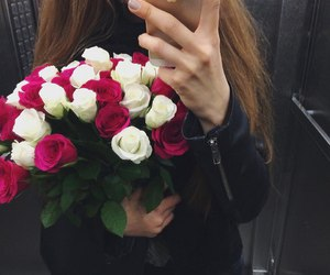 beautiful, flowers, and models image