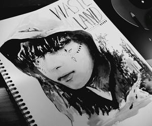 black&white, fanart, and kpop image