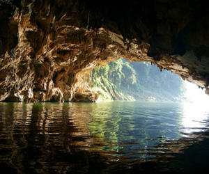cave, beautiful, and water image