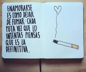 fall in love, book, and cigarette image