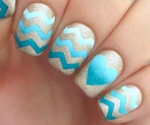 blue, girl, and nail art image
